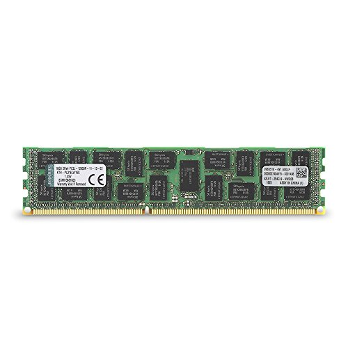 Kingston Technology 16GB 1600MHz DDR3L Reg ECC Low Voltage DIMM Memory for HP/Compaq Desktop KTH-PL316LV/16G