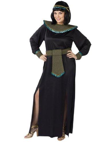 [Black/gold Cleopatra Adult Plus Costume] (Haloween Adult Costumes)