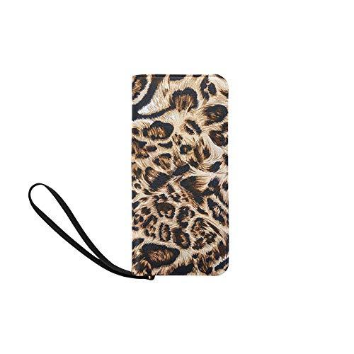 Womens Wallet Striped Leopard Printed Girls Long Clutch Purse Ladies Bifold Phone Bag Card Bag (Fold Wallet Striped Bi)
