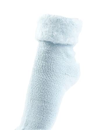 cd2609e209609 Ladies Warm & Cosy Thermal Fleece Ankle Bed Socks UK 4-7