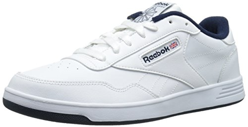 Reebok Men's Club MEMT Fashion Sneaker, White/Collegiate Navy, 8.5 M US Athletic Club