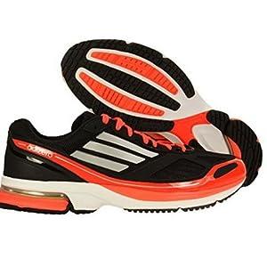 adidas Men's Adizero Boston 4 Running Shoes (7, Black/Metallic Silver/Infrared)