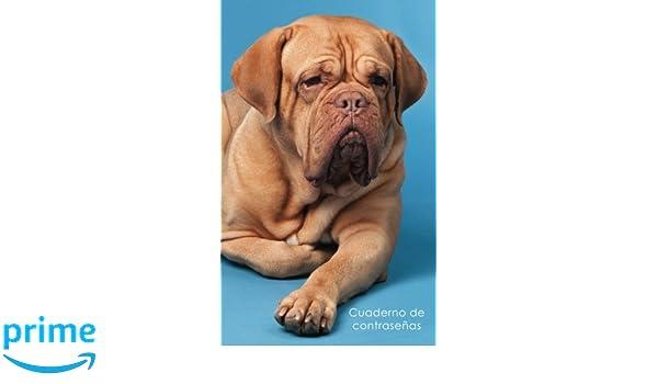 Cuaderno de contraseñas: Libro de registro de direcciones y contraseñas en internet - Cubierta de Mastín Francés (Cuadernos para los amantes de los perros) ...