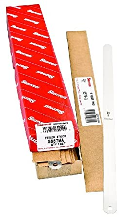 Starrett S667MA Thickness Feeler Gage Assortment, 0.03-0.5mm Thickness, 14 Pieces