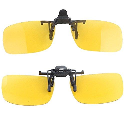 Grimbatol Clip On Driving Glasses Sunglasses Specs Vision Car Fishing Polarized Polarised (Best Polarised Fishing Glasses)