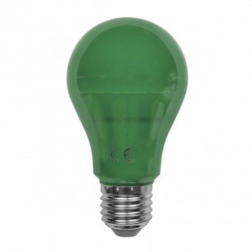 120V Pack of 10 5W A19 Decorative LED Light Bulb Norman Lamps LED-A19-5W-GREENx10 Replaces 40W Incandescent Green
