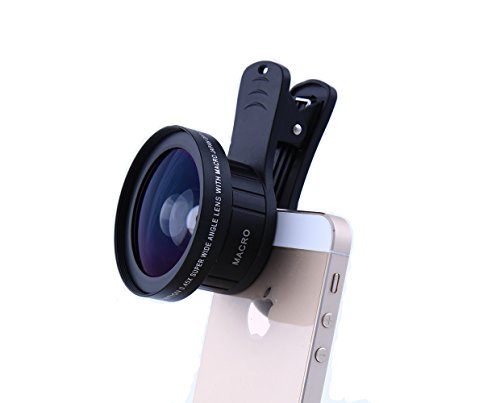 AZlife Phone Camera Lens, Clip on Cell Phone for iPhone Samsung Smartphones (0.45x Super Wide Angle Lens, 12.0x Super Macro Lens) by AZlife