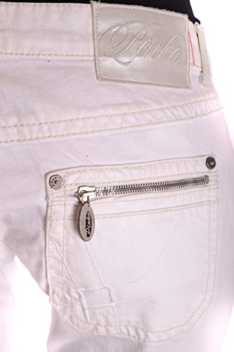 Pinko Damen MCBI242047O Weiss Baumwolle Jeans