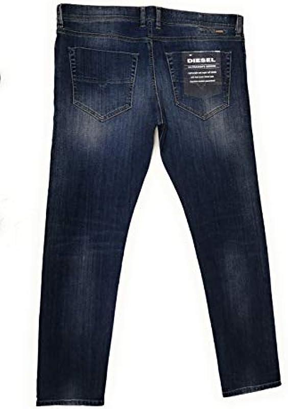 Diesel męskie jeansy spodnie Tepphar Slim-Carrot męskie jeansy 084GH Stretch W38/L32: Odzież