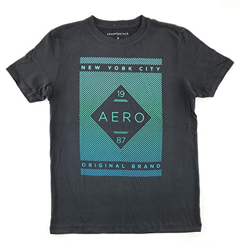 Aeropostale Men's Graphic Logo T-Shirt Small Black 3135