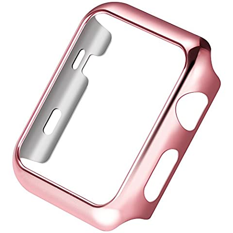 Apple Watch Series 2 Case,Mangix Super Thin PC Plated Plating Protective Bumper Case for for Apple Watch Series 2 2016 Released (Rose God,42mm)