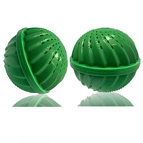 (BERON Pack of 2 Laundry Balls Wash Balls for 1500 Washings Laundry Detergent Alternative(Green))