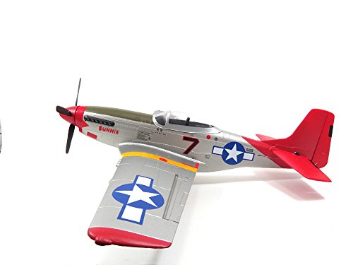 AXIS-TOYS FMS 800mm P51 2nd Fly RTF Brushless Motor RC Jet (V2) (Red)