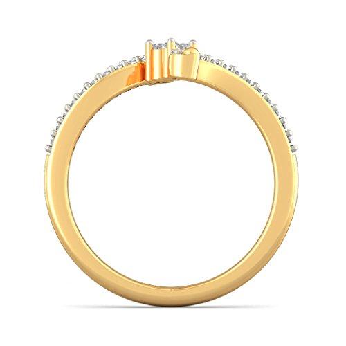 14K Or jaune, 0.17CT TW Diamant Blanc (IJ   SI) en diamant