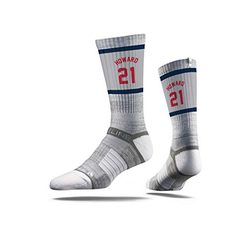 - Strideline NBA Charlotte Hornets Dwight Howard Jersey Premium Athletic Crew Socks, One Size