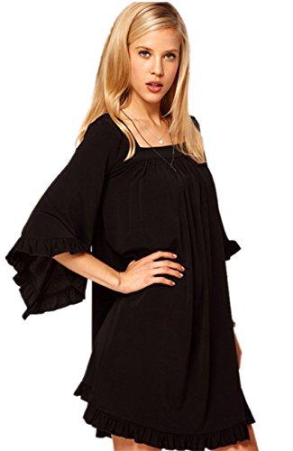 Buy bell sleeved boho mini dress - 7