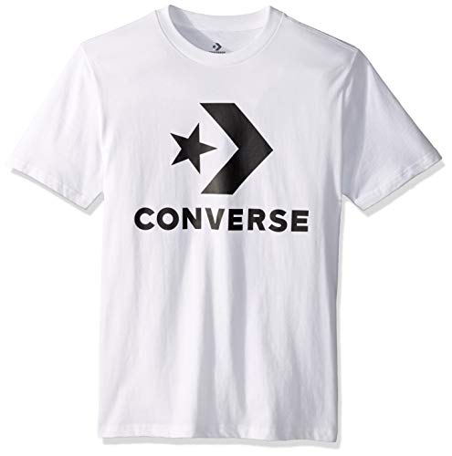 Converse Unisex-Adult's Men's Star Chevron Short Sleeve T-Shirt, White Multi, M