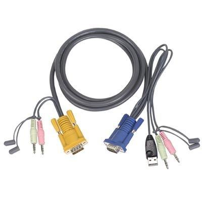 IOGEAR Multimedia USB KVM Cable - 10ft - G2L5303U