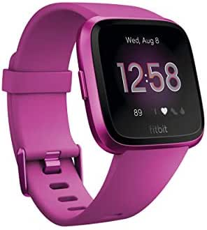 Fitbit Versa Lite Edition Smart Watch, One Size (S & L bands included), 1 Count