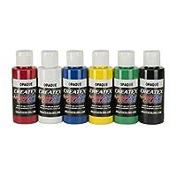 Createx Colors 5803-00 Juego de pintura opaca para aerógrafo, 2 oz, 2 onzas, multicolor