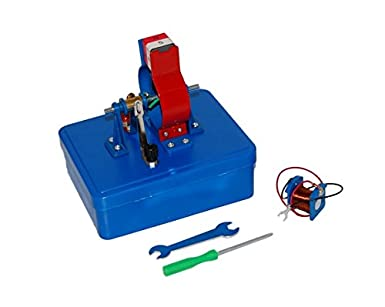 kit, dc motor in self storing box electronics and electricity