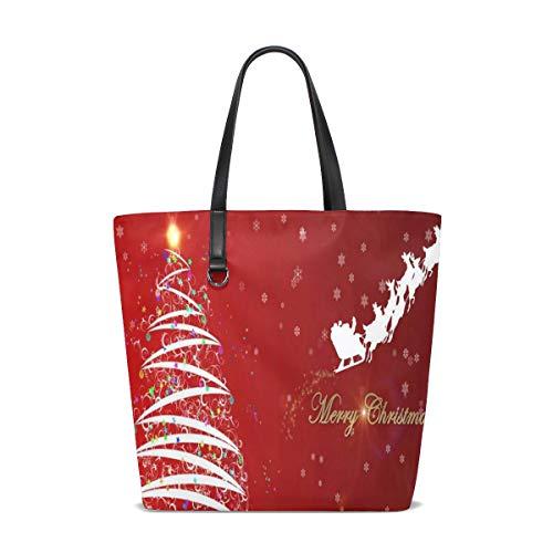 - Merry Christmas Wishes Tote Bag Purse Handbag Womens Gym Yoga Bags for Girls