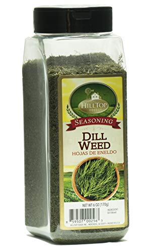 Weed Dill Dip - Hilltop Foods Natural Dill Weed-Seasoning Spices 6oz Container