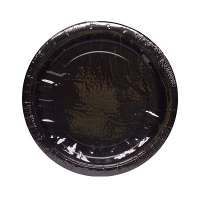 BLACK SOLID 7'' PLATE 8CT #34672, CASE OF 144 by DollarItemDirect