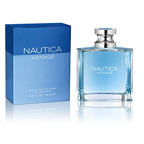 Nautica Voyage Eau de Toilette Spray for Men, 3.4 oz (Top Best Mens Cologne)