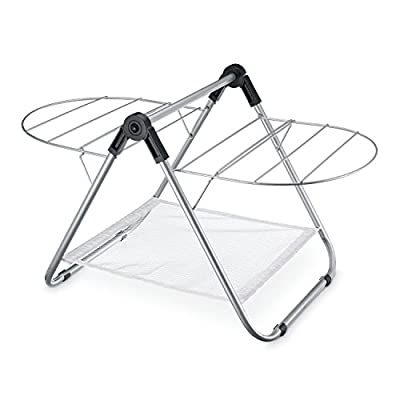 COUNTERTOP DRYING RACK - Sturdy design with steel construction for use on counters, bath tubs and in tight spaces Adjustable wings hang in multiple positions to accommodate drying needs 10-feet of drying space with mesh area offers an additional 1-3/4-square feet for block drying - laundry-room, entryway-laundry-room, drying-racks - 41WKelkYH L. SS400  -
