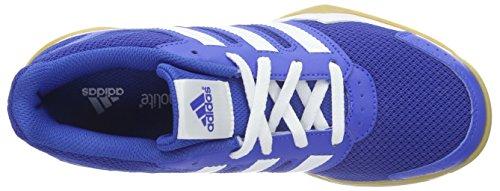 adidas Unisex-Kinder Interplay K Hallenschuhe Blau (Blau/Weiß/Rosa)