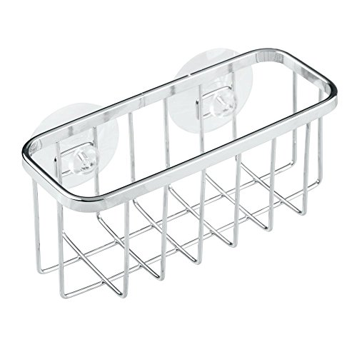 InterDesign Gia Suction Kitchen Sink Center and Holder for Sponges, Scrubbers, Sink Stoppers – Pack of 2, Chrome by InterDesign Gia Kitchen Sink Suction Holder (Image #5)
