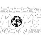 4 All Times Soccer Moms Kick Ass Car Decal, Sticker For Cars, Trucks, Laptops