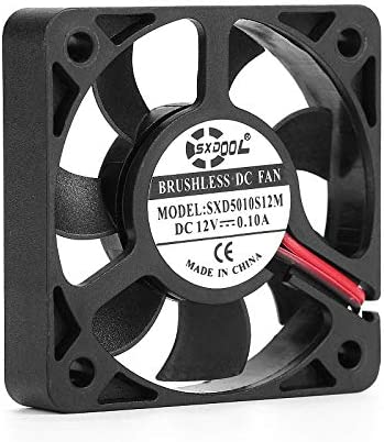 Brand New SXDOOL SXD5010S12M 50mm 505010mm slim 10mm thickness DC12V 0.10A 4500RPM 11.2CFM axial cooling fan