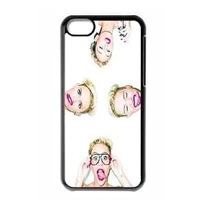iPhone 5C casos Miley Cyrus gracioso,–[negro] Kaktana