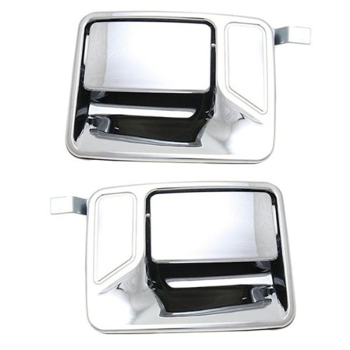 Chrome Excursion Door Handle (Pair of Ford Super Duty Truck Rear Chrome Outside Outer Exterior Door Handles)