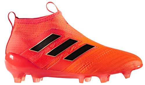 Adidas Junior Edge - adidas Kid's ACE 17+ Purecontrol FG Soccer Cleats, 6.0 D(M) US, Solar Orange / Core Black / Red