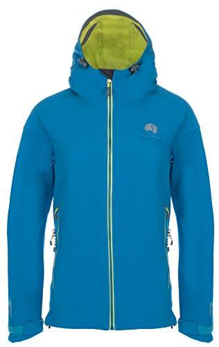 Mishmi Takin Misti Water Resistent, Wind Resistent, Fleece-Lined Soft Shell Women's Teal Blue Jacket, XL