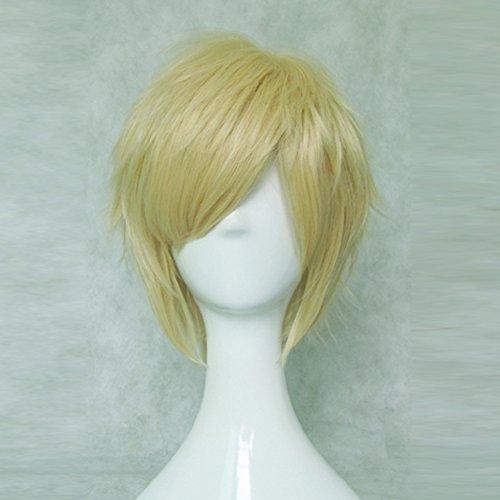 Uta no Prince-sama Syo Kurusu Gold Short Anime Cosplay Costume Wig + Free Wig Cap -