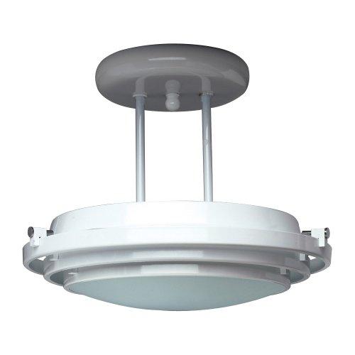 PLC Lighting 1614 PB 1 Light Semi Flush Mount Cascade Collection