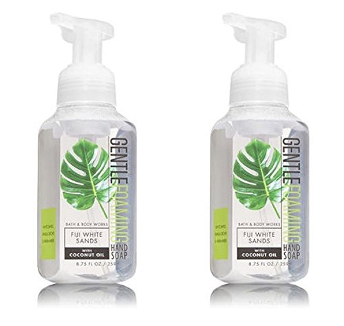 Bath & Body Works Gentle Foaming Hand Soap in FIJI WHITE SANDS with Coconut Oil (2 Pack) ()