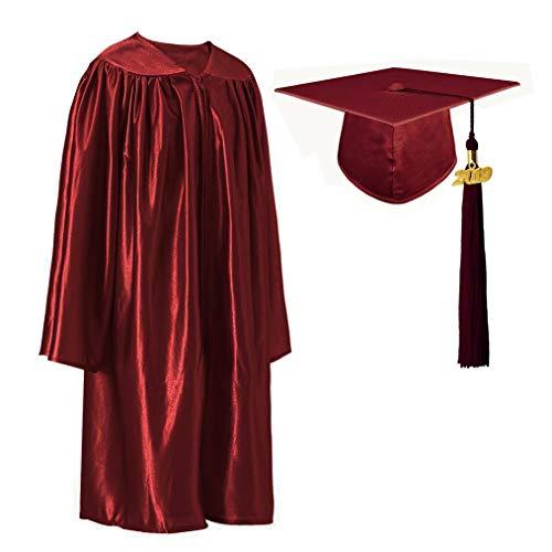 GraduationRoyal Shiny Kindergarten Gown Cap Tassel Set with 2019 Gold Year Charms]()