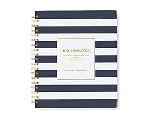 "Day Designer for Blue Sky ""Navy Stripe"" 8 x 10 Weekly/Monthly Planner, Jan 2017 - Dec 2017"
