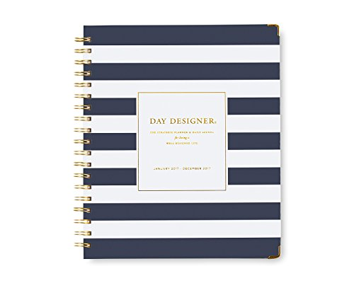 2017 Gallery Leather Large Monthly Planner Acadia Navy
