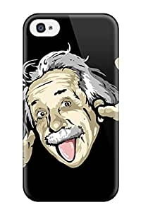 Hot New Funny Albert Einstein Case Cover For Iphone 4/4s With Perfect Design