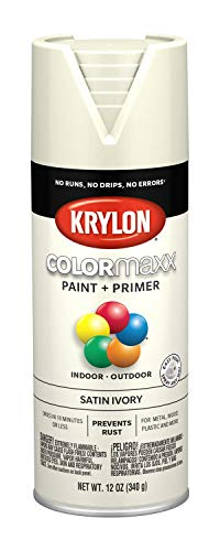 Krylon K05567007 COLORmaxx Spray Paint, Aerosol, Ivory (Spray Paint White Antique)