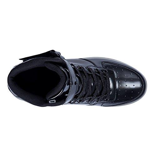 Lampeggiante USB Ragazzi FLARUT Black Carica Scarpe Bambino Ragazze Luminosi B Sportivet LED Scarpe Sneakers xXUqU0H