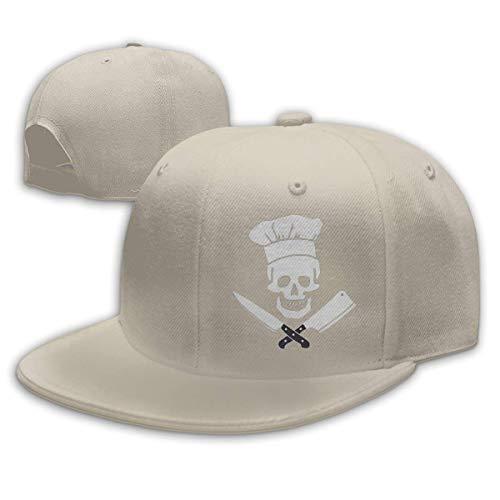 - Hat with Chef On It , Skull Chef Cooking Skull Vintage Unisex Fashion Cotton Denim Baseball Cap, Black Baseball Hat with Skull