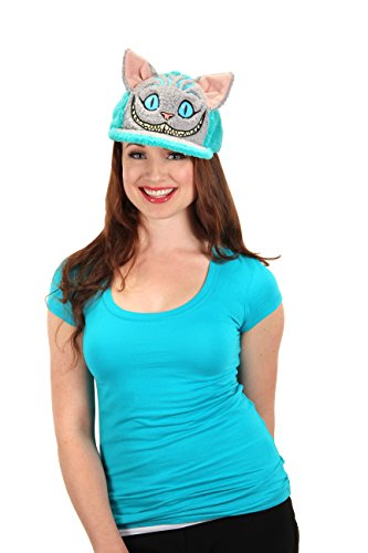 elope Disney's Alice Through The Looking Glass Cheshire Cat Fuzzy Cap Blue -