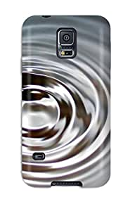 Tpu Phone Case With Fashionable Look For Galaxy S5 - Water Waves 1489262K75286293